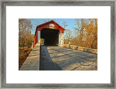 Van Sant Covered Bridge Framed Print