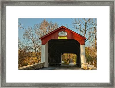 Van Sant Covered Bridge Bucks County Framed Print
