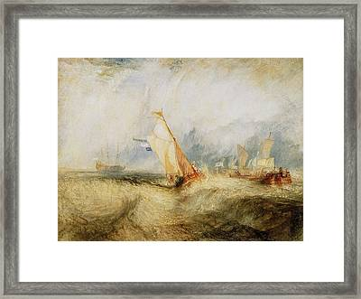 Van Tromp Going About To Please His Masters Framed Print