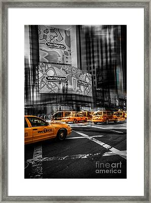 Van Wagner - Colorkey Framed Print by Hannes Cmarits