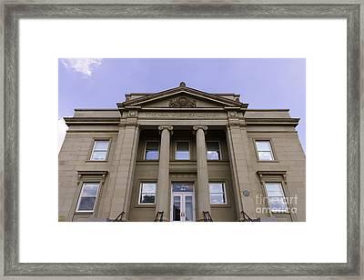 Van Wormer Library At The University Of Cincinnati Framed Print by Paul Velgos