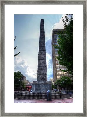 Vance Monument Asheville North Carolina Framed Print