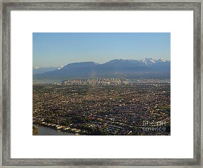 Vancouver At A Glance Framed Print