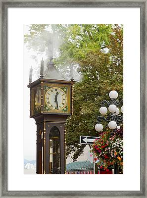 Framed Print featuring the photograph Vancouver Bc Historic Gastown Steam Clock by JPLDesigns