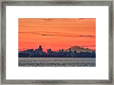 Vancouver Bc Morning Framed Print