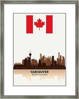 Vancouver British Columbia Canada Framed Print by Daniel Hagerman
