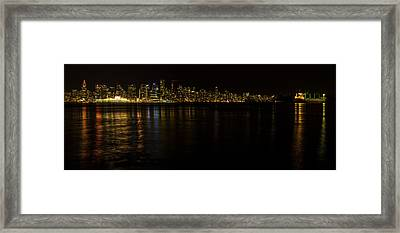 Vancouver By Night Framed Print