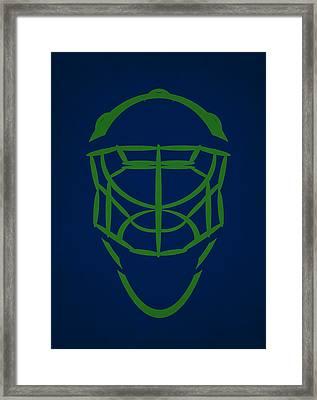 Vancouver Canucks Goalie Mask Framed Print by Joe Hamilton