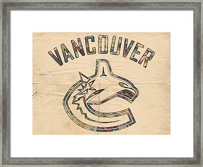 Vancouver Canucks Logo Art Framed Print by Florian Rodarte