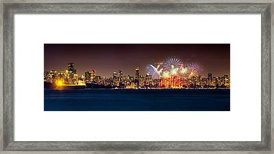 Vancouver Celebration Of Light Fireworks 2013 - Day 2 Framed Print