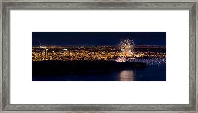 Vancouver Celebration Of Light Fireworks 2013 - Day 3 Framed Print by Alexis Birkill