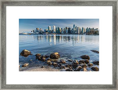 Vancouver City From Stanley Park Framed Print by Pierre Leclerc Photography