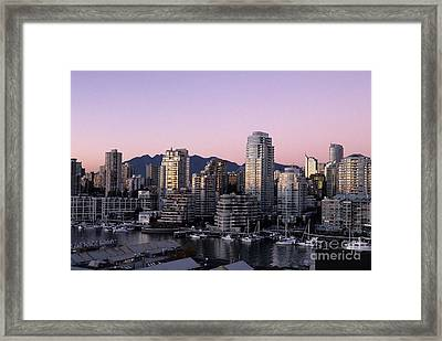 Vancouver Downtown Canada Framed Print by Ryan Fox
