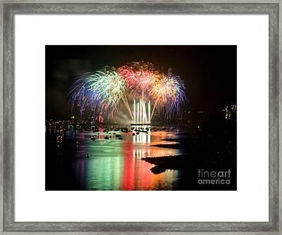 Vancouver Fireworks 5 Framed Print by Terry Elniski