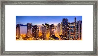 Vancouver Fog Framed Print