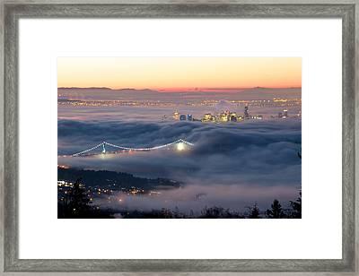 Vancouver Fog Framed Print by Scott Holmes
