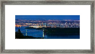 Vancouver From Cypress Mountain Framed Print