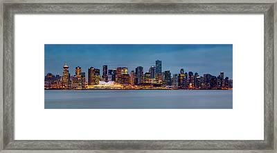 Vancouver From Lonsdale Quay Framed Print by Alexis Birkill