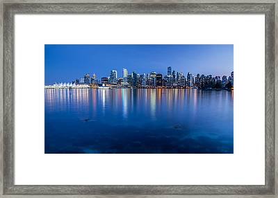 Vancouver From Stanley Park Framed Print by Pierre Leclerc Photography