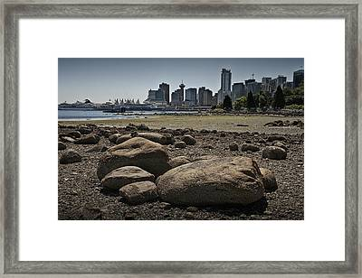 Vancouver Harbor By Stanley Park At Low Tide No. 0685 Framed Print by Randall Nyhof