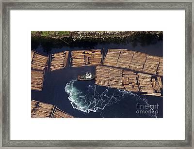 Vancouver Island Logging Framed Print