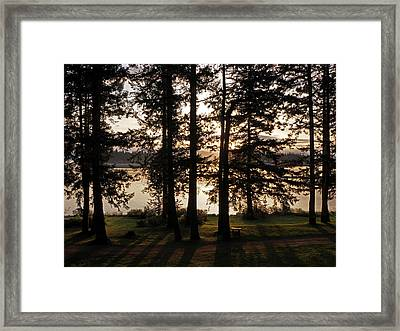 Vancouver Island Sunrise Framed Print by Inge Riis McDonald