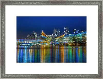 Vancouver Lights Framed Print