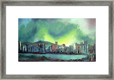 Vancouver Night Framed Print by Martin Ruygrok