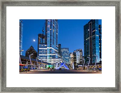 Vancouver Olympic Cauldron - By Sabine Edrissi Framed Print by Sabine Edrissi