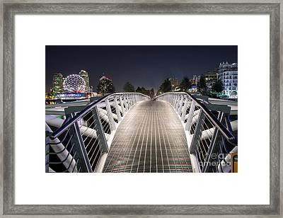 Vancouver Olympic Village Canoe Bridge - By Sabine Edrissi  Framed Print