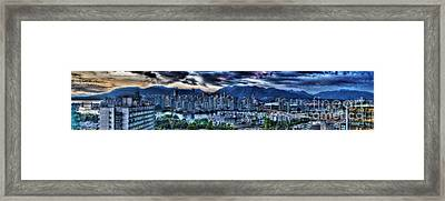 Vancouver Panorama Framed Print by Colin Woods