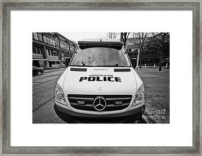 Vancouver Police Mercedes Response Van Vehicle Bc Canada Framed Print by Joe Fox