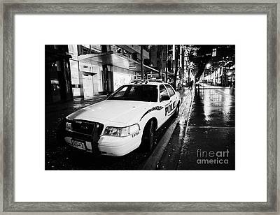 Vancouver Police Squad Patrol Car Vehicle Bc Canada Framed Print by Joe Fox