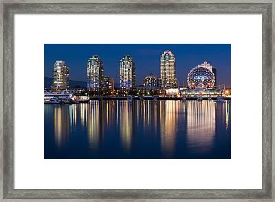Vancouver Postcard Framed Print