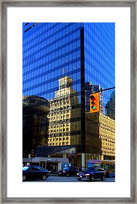 Vancouver Reflections 3 Framed Print by Randall Weidner