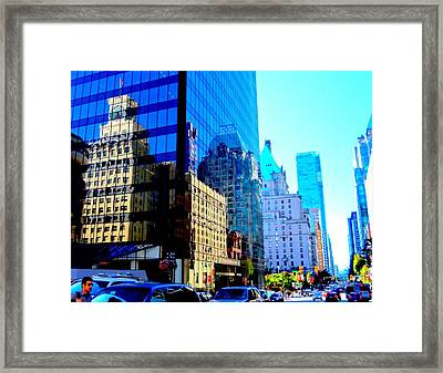 Vancouver Reflections 5 Framed Print by Randall Weidner