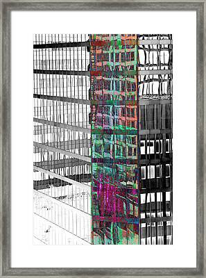 Vancouver Reflections Framed Print by Linda Dunn