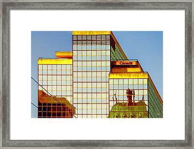 Vancouver Reflections No 2 Framed Print by Ben and Raisa Gertsberg