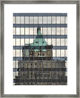 Vancouver Reflections Framed Print by Steven Richman