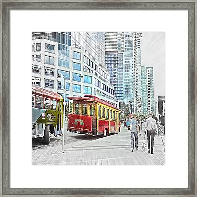 Vancouver Sightseeing Framed Print by Carol Cottrell