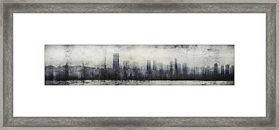 Vancouver Skyline Abstract 1 Framed Print