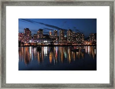 Vancouver Skyline Framed Print by Brian Chase