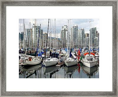 Framed Print featuring the photograph Vancouver Skyline by Gerry Bates
