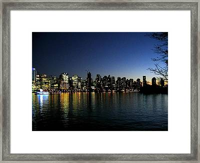 Vancouver Skyline Framed Print by Will Borden