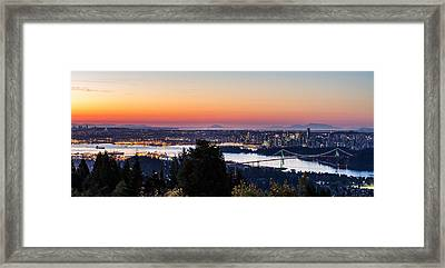 Vancouver Sunrise British Columbia Framed Print by Pierre Leclerc Photography