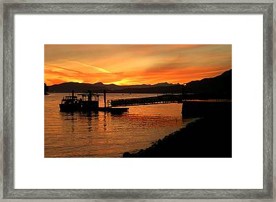 Vancouver Sunset Framed Print by Brian Chase