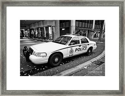 Vancouver Transit Police Squad Patrol Car Vehicle Bc Canada Framed Print by Joe Fox