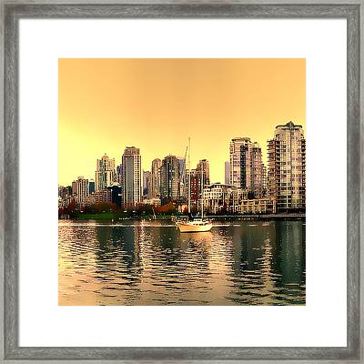 Vancouver Triptych Centre Panel Framed Print by Patricia Keith