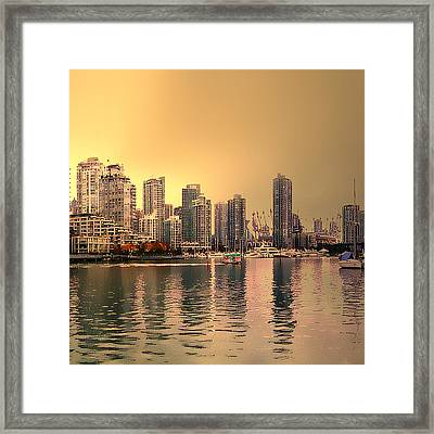 Vancouver Triptych Right Panel Framed Print by Patricia Keith