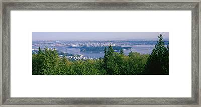 Vancouver Viewed From From A Far Framed Print by Panoramic Images